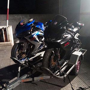 Alquiler remolque motos Madrid